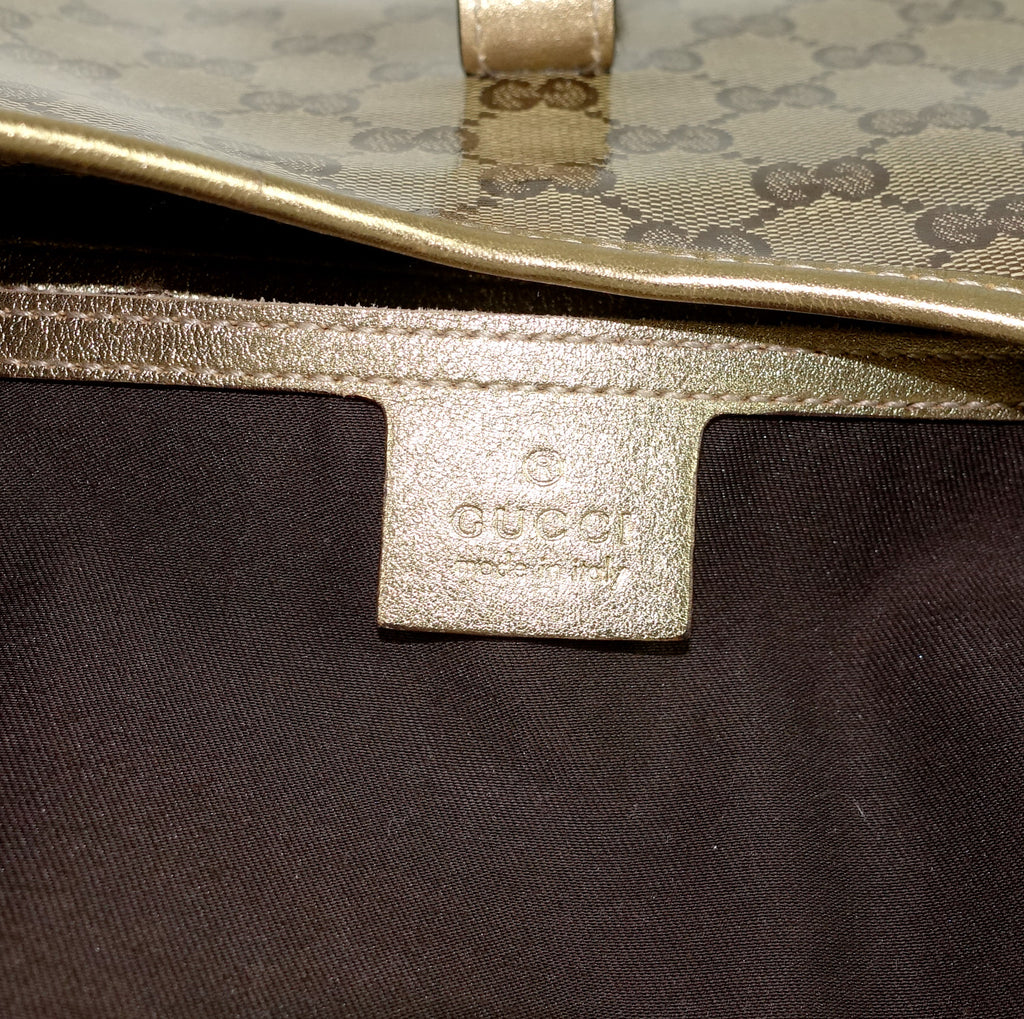 Jackie O Crystal Monogram Coated Canvas Bag