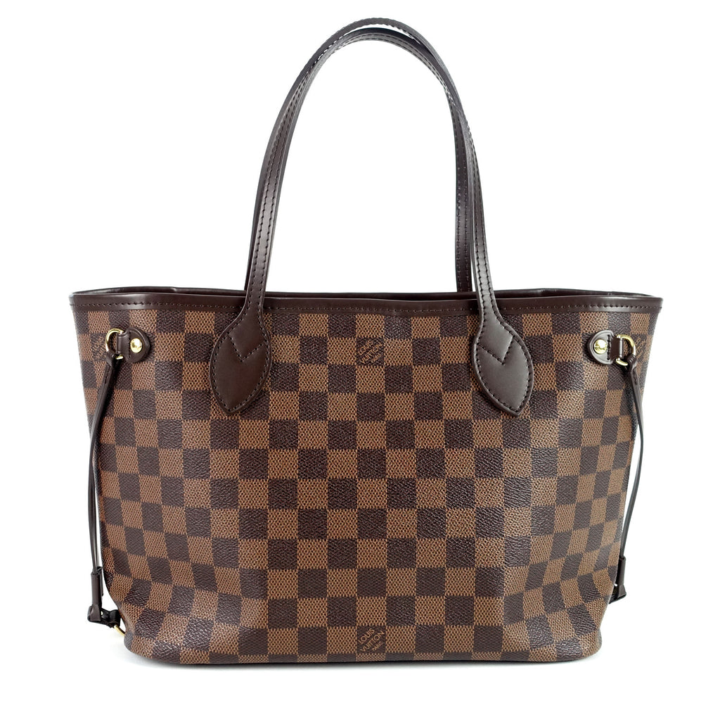 Neverfull PM Damier Ebène Canvas Shoulder Bag