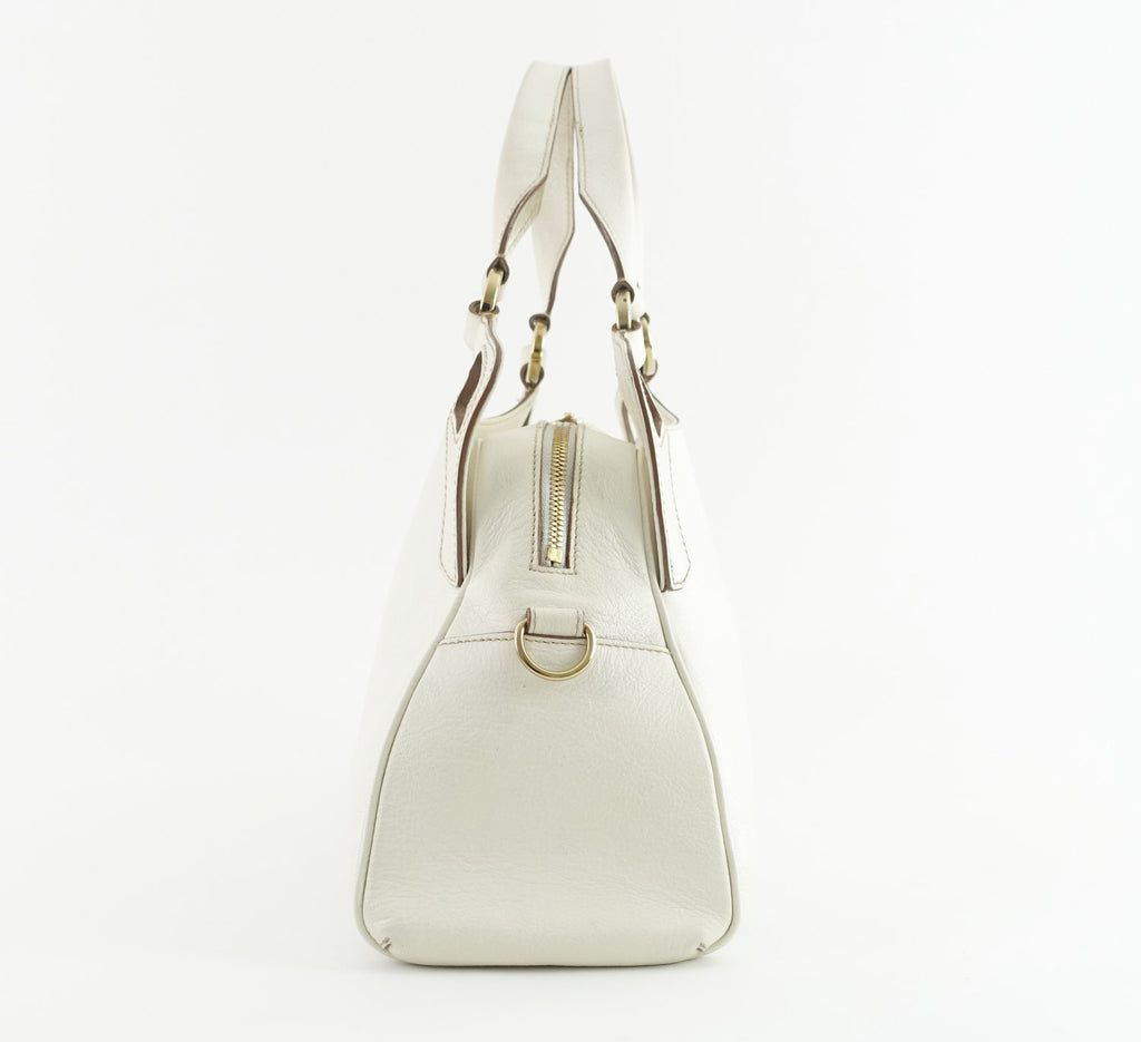Marcello de Cartier Ivory Calfskin Leather Bag