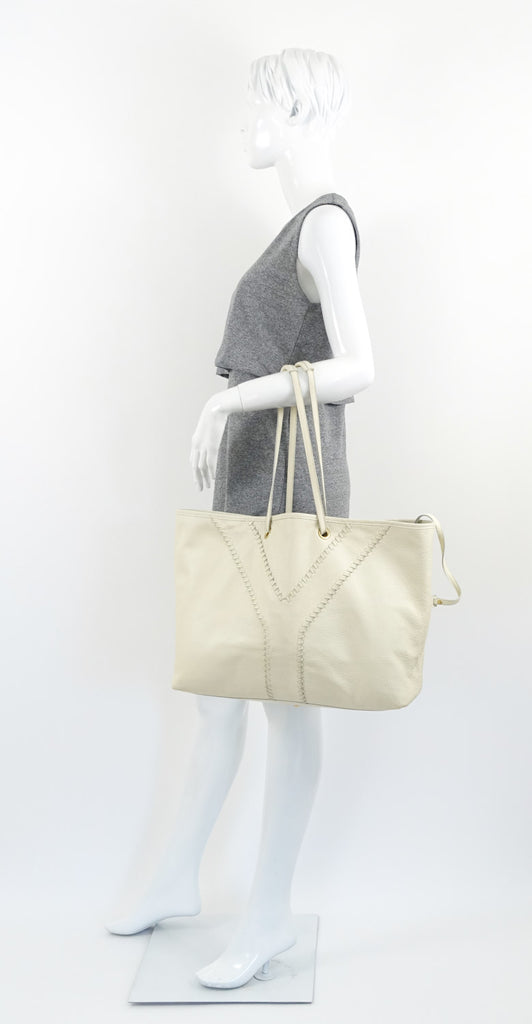 Calf Leather Reversible Tote Bag