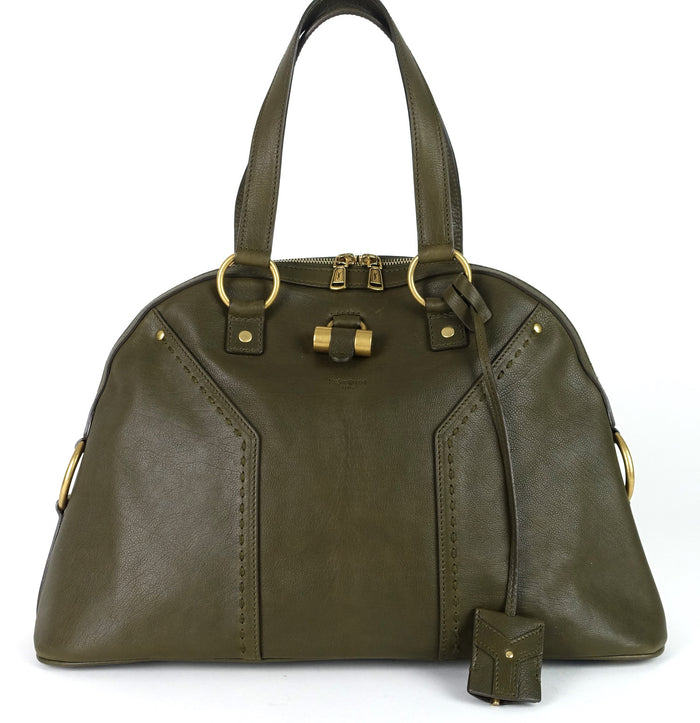 Muse Grained Leather Large Handbag