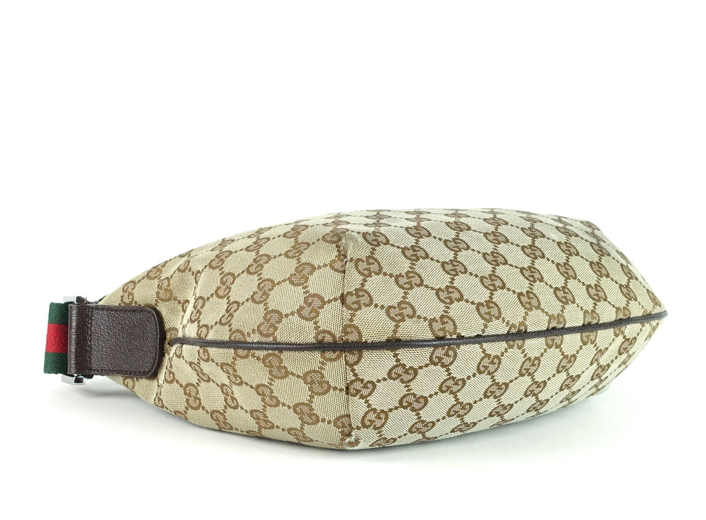 Monogram Canvas and Leather Hobo Bag