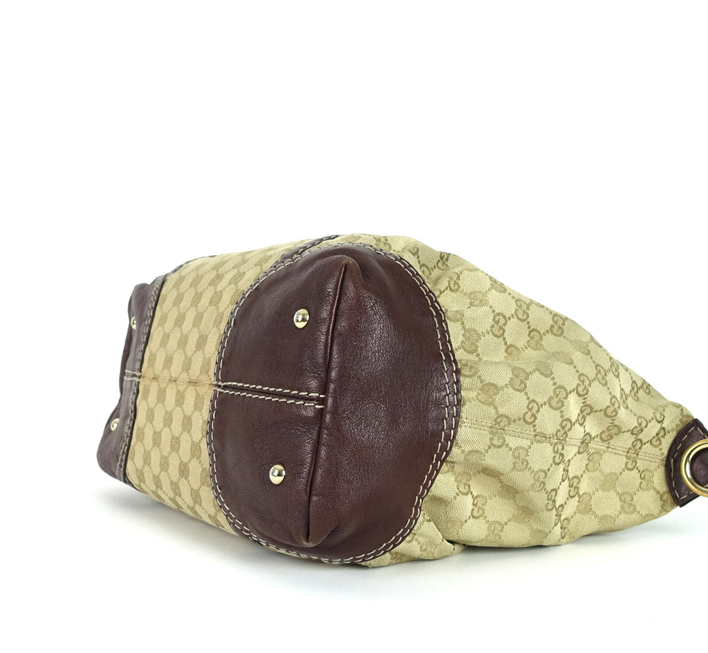 Large Monogram Canvas Hobo Bag