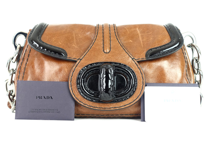 d4648dd6fab4 Palissandro Vitello Calfskin Leather Shoulder Bag Sold · Prada