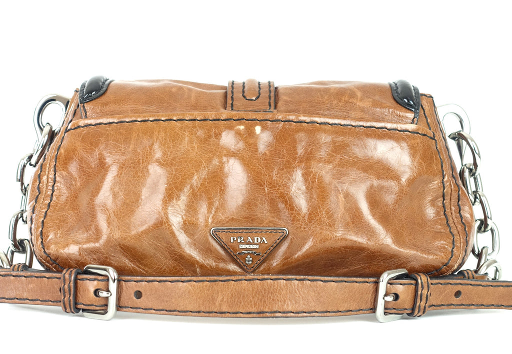 Palissandro Vitello Calfskin Leather Shoulder Bag