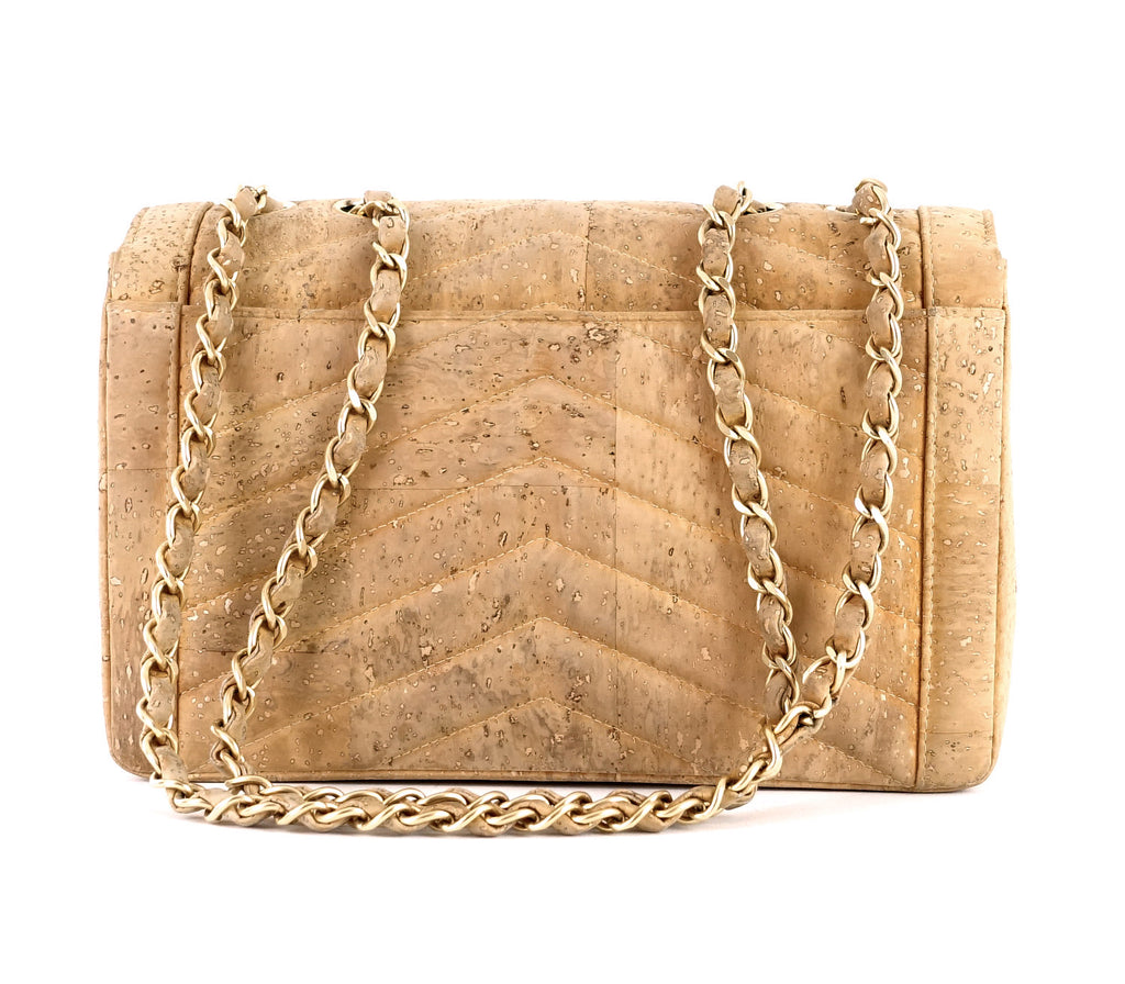 Chevron Cork Mademoiselle Lock Limited Edition Bag