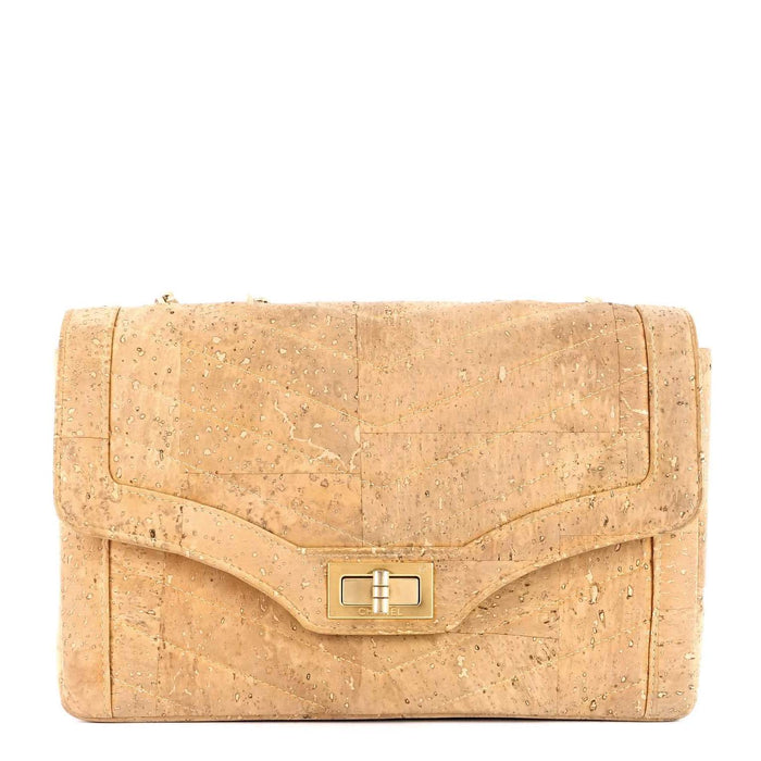 Chevron Cork Mademoiselle Lock Bag - Limited Edition Bag
