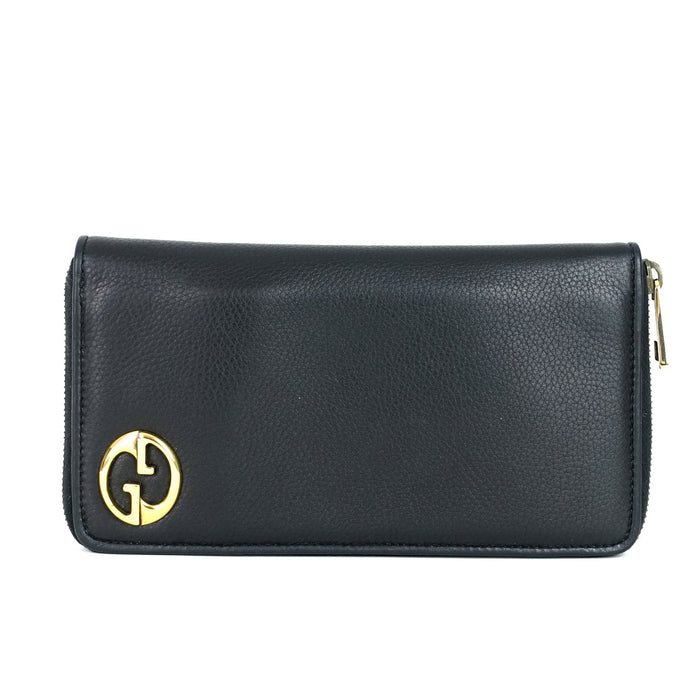 97497a207a9 1973 Calfskin Leather Zip Around Wallet Sold. Gucci