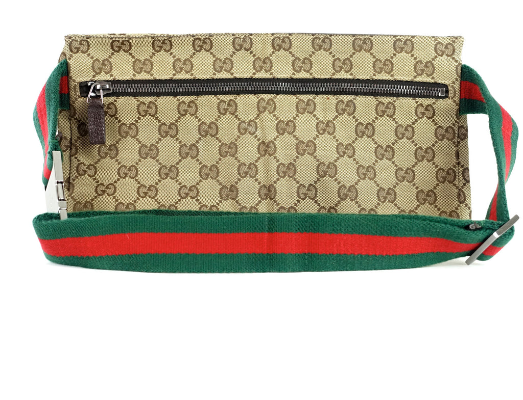 Monogram Canvas and Leather Belt Bag