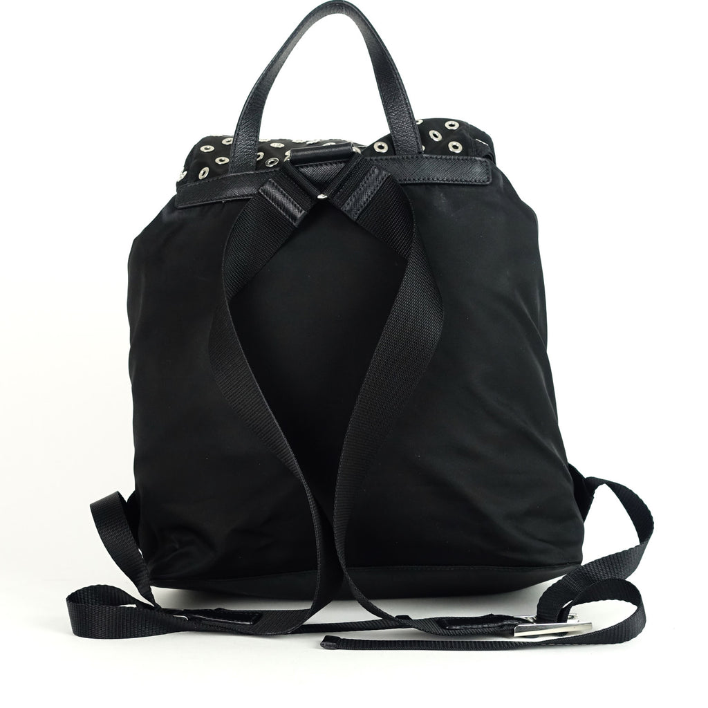 Tessuto Nylon Grommet Backpack Bag