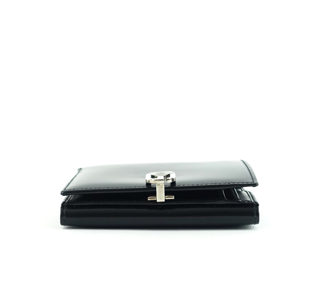 Lacquered Leather Bifold Wallet