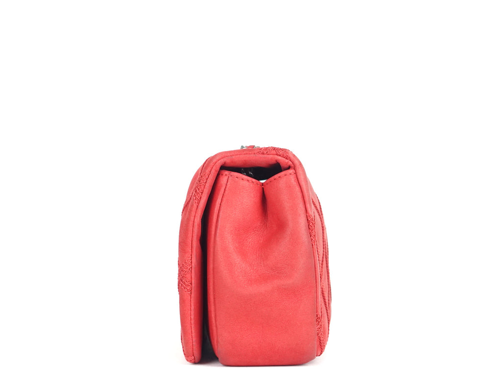 Mini Single Flap Calfskin Leather Shoulder Bag
