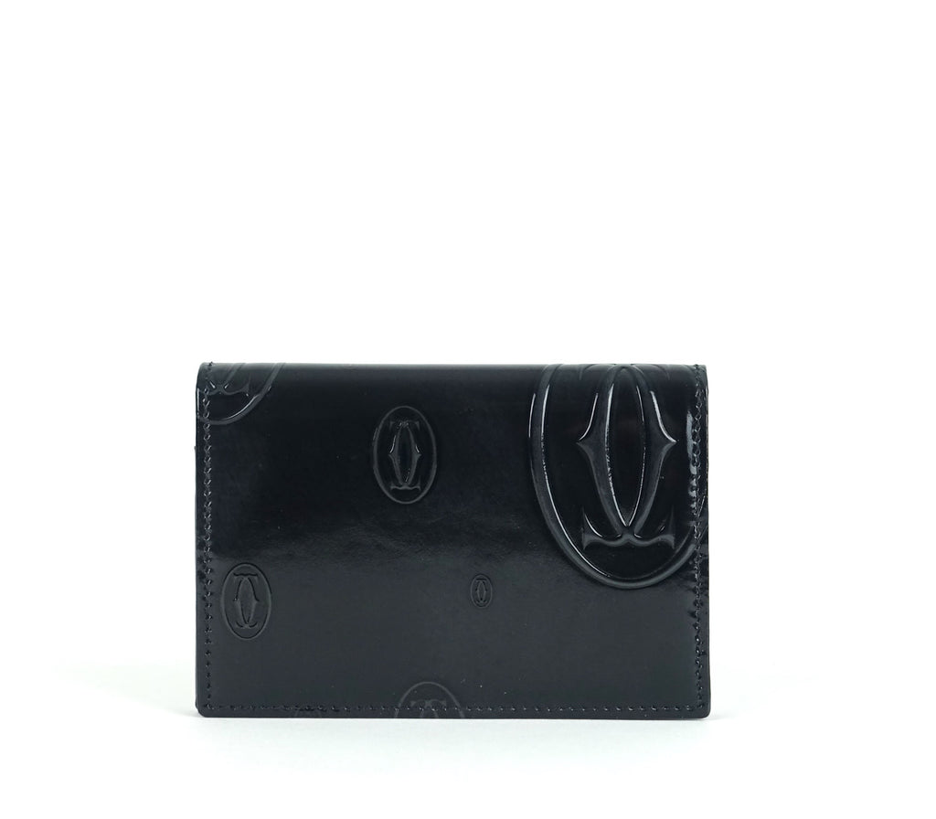 Happy Birthday Monogram Calf Leather Palladium Card Holder