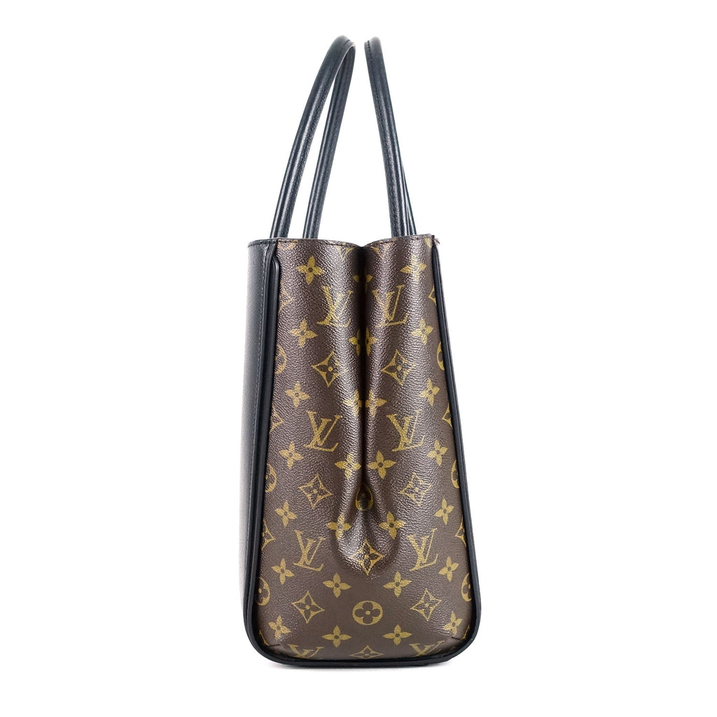 Kimono Monogram Canvas and Calfskin Leather Tote Bag