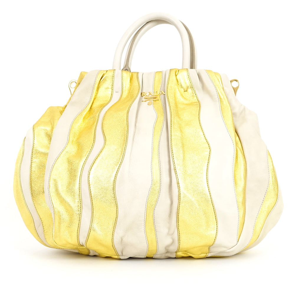 Waves Convertible Nappa Leather Hobo Bag