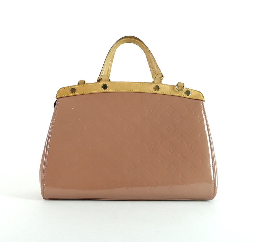 Brea MM Monogram Vernis Leather Handbag