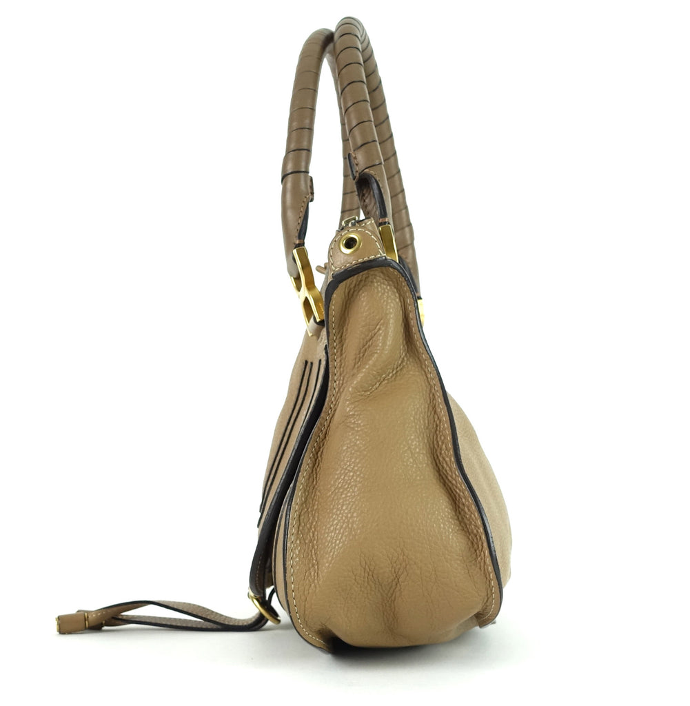 Medium Marcie Calfskin Leather Handbag