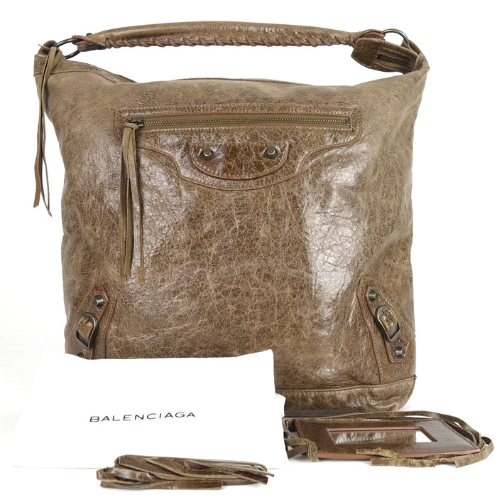 Classic Day Glazed Calfskin Leather Bag