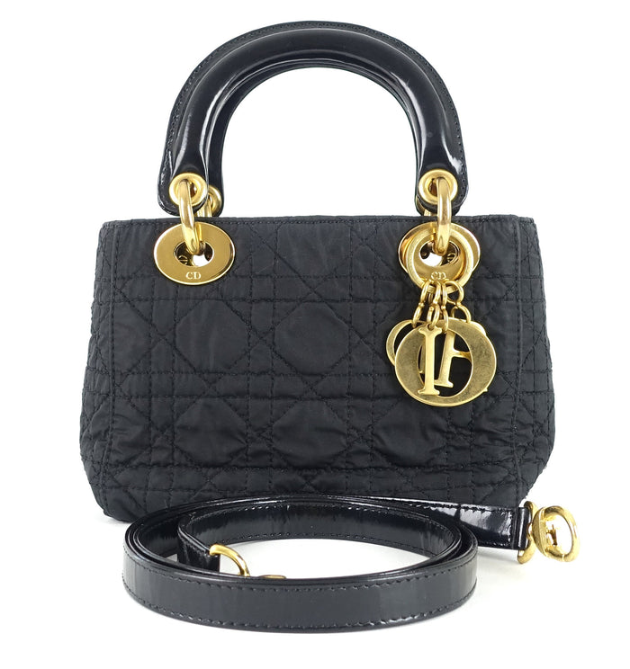 Lady Dior Cannage Quilt Nylon Medium Bag