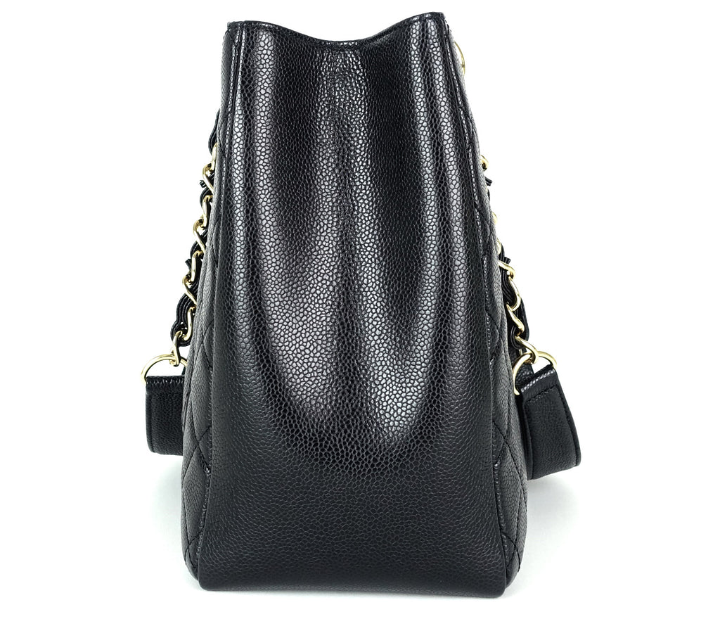 Grand Shopping Tote Caviar Leather GST Shoulder Bag