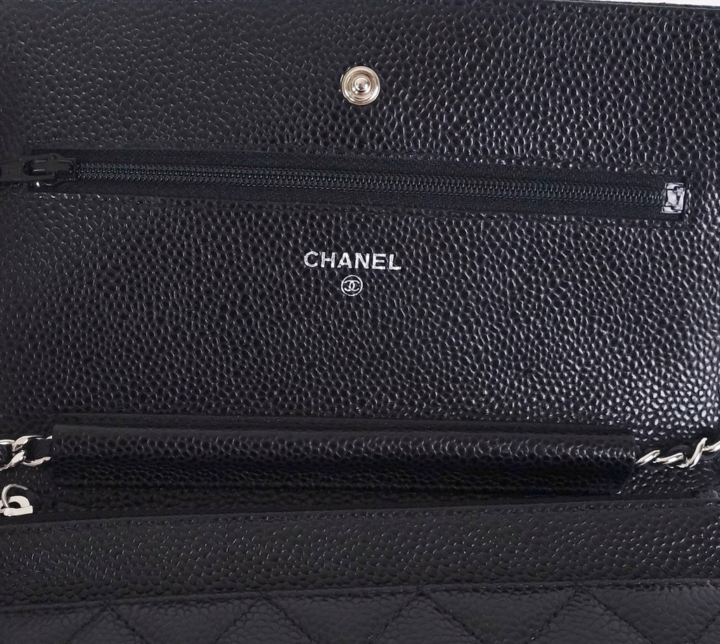 Wallet on Chain Caviar Leather Bag