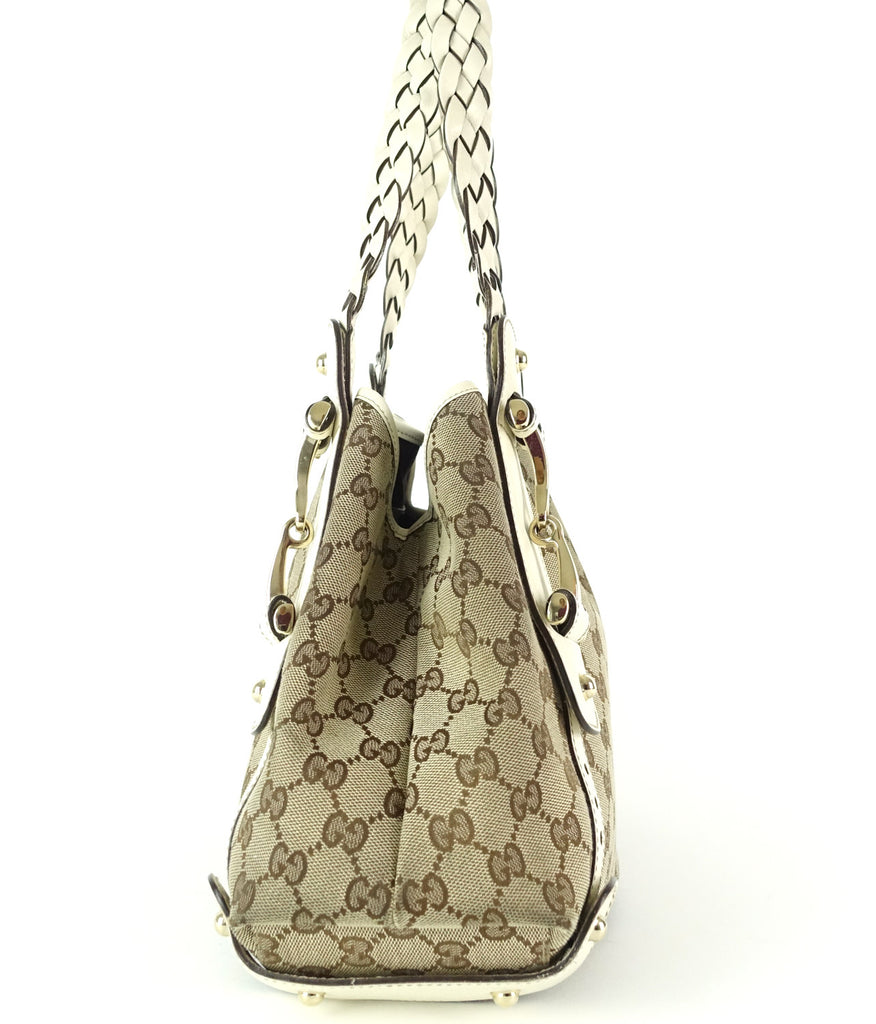 Pelham Monogram Canvas Hobo Bag