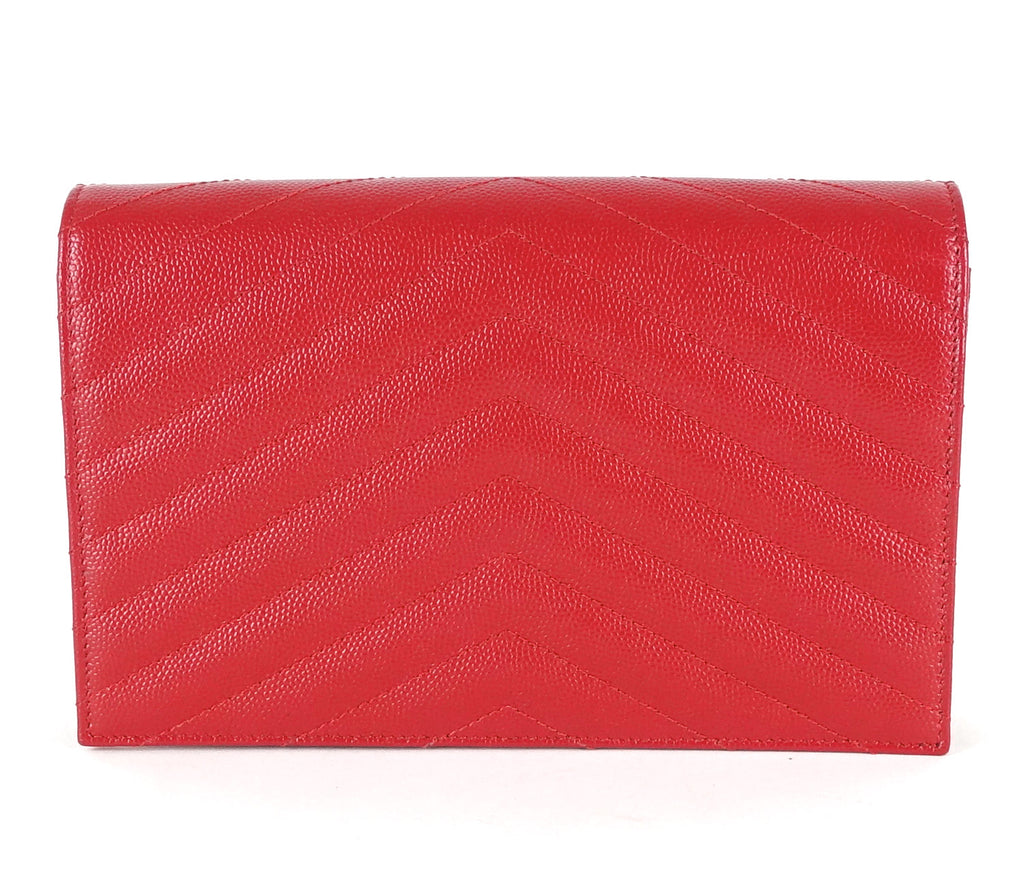 Matelasse Chevron Leather Classic Wallet