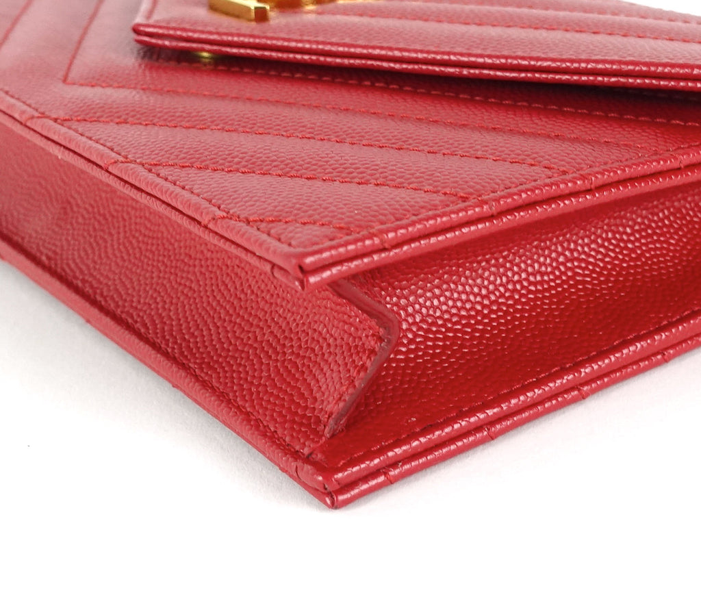 Matelasse Chevron Calf Leather Classic Wallet