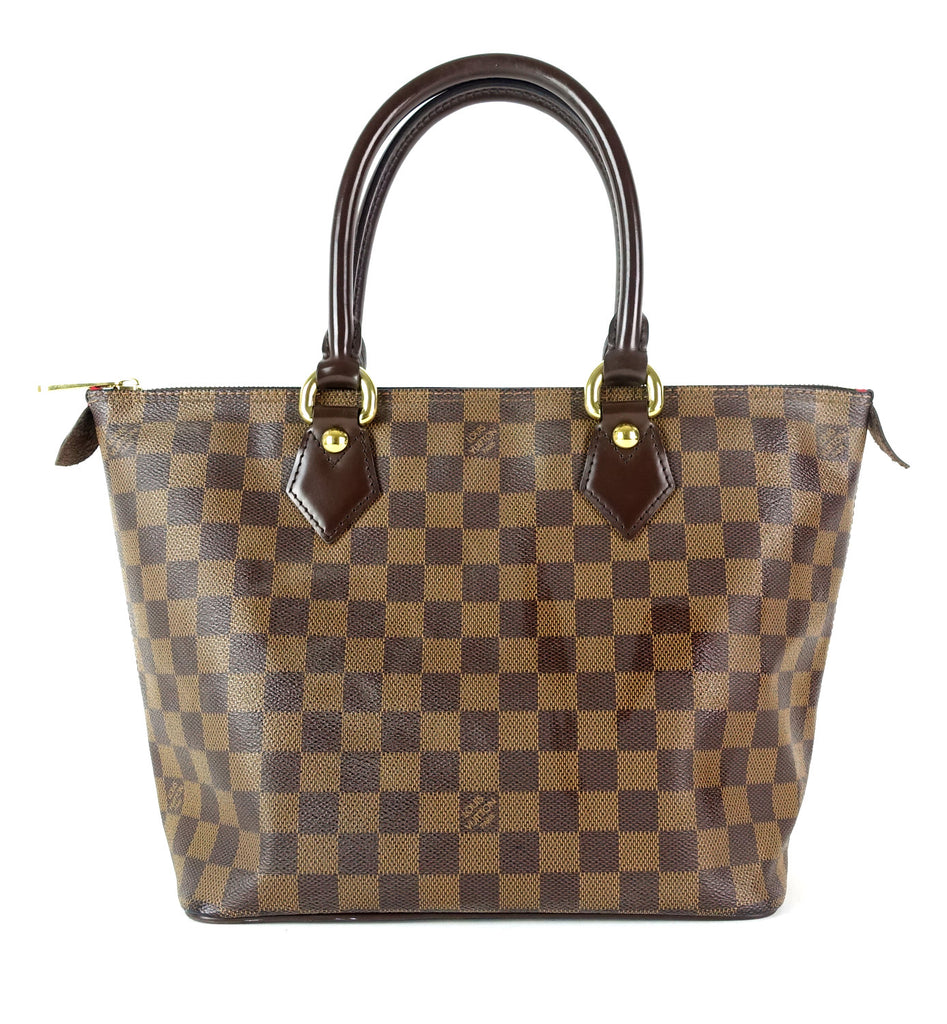 Saleya PM Damier Ebene Canvas Tote Bag