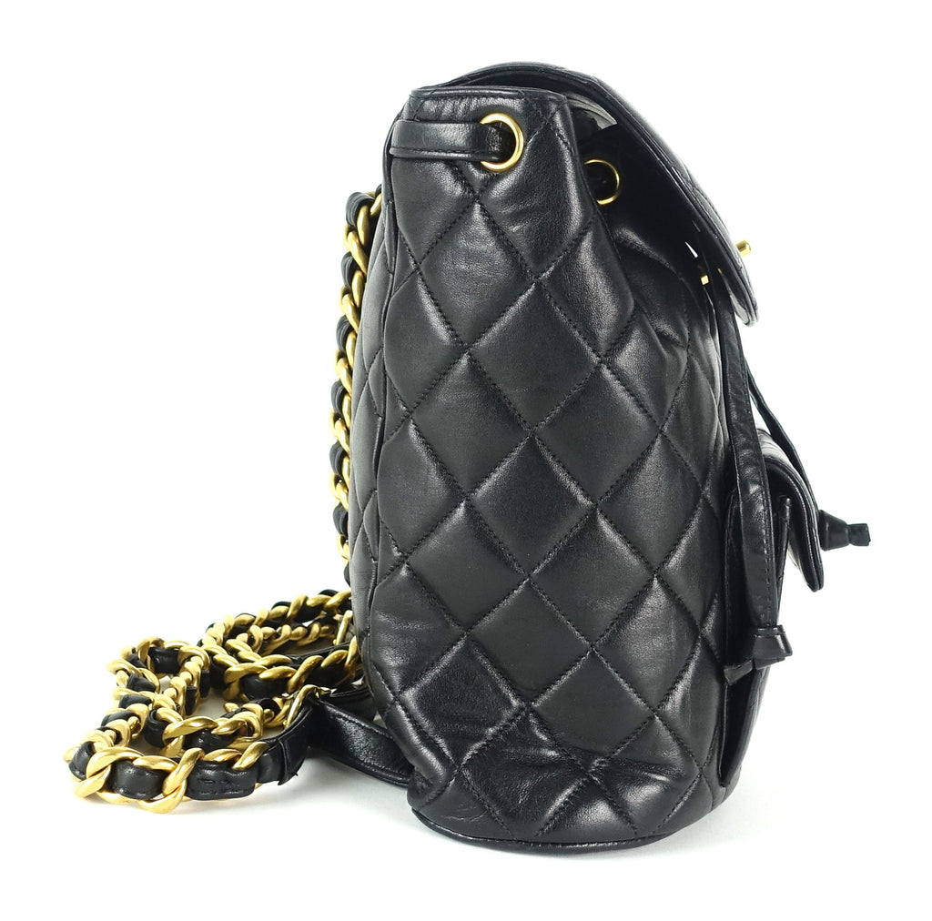 Medium Quilted Lambskin Leather Backpack