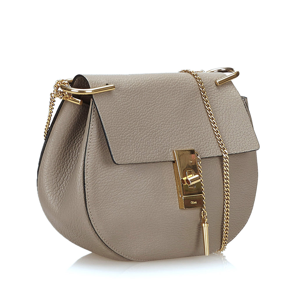 Drew Textured Lambskin Leather Shoulder Bag