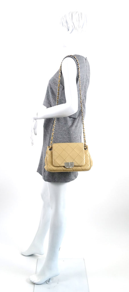 Stitch It Accordion Lambskin Leather Shoulder Bag