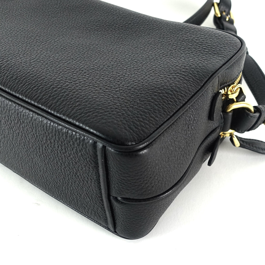 Double Zip Saffiano Leather Bag