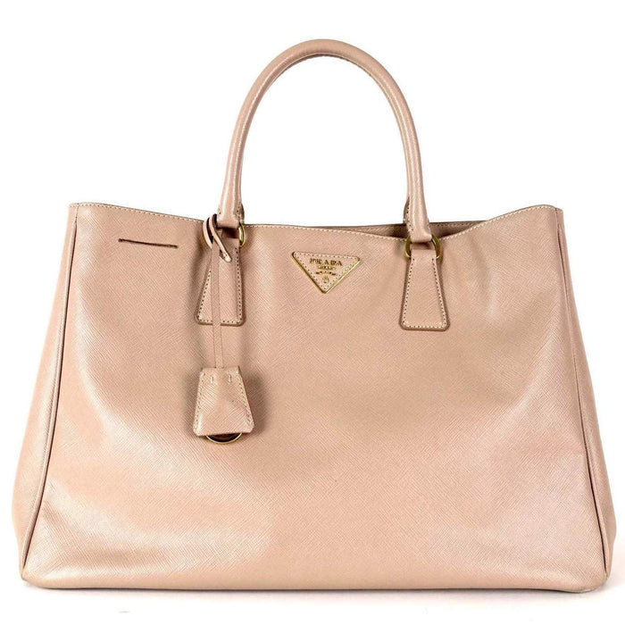 Lux Medium Saffiano Leather Tote Bag