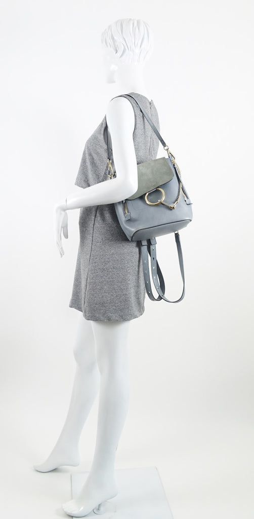 Faye Medium Suede and Calf Leather Backpack