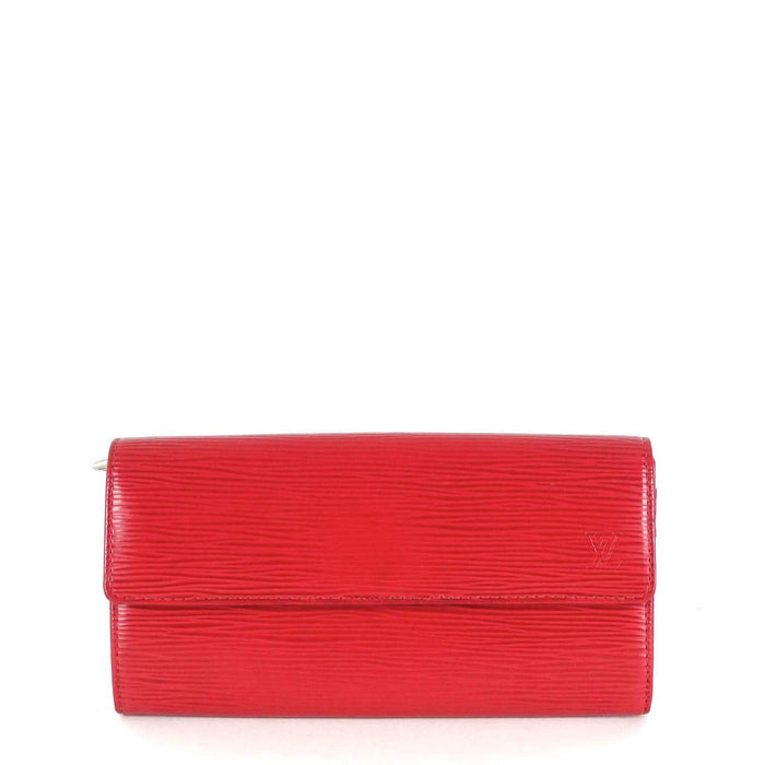 Sarah Red Epi Leather Wallet