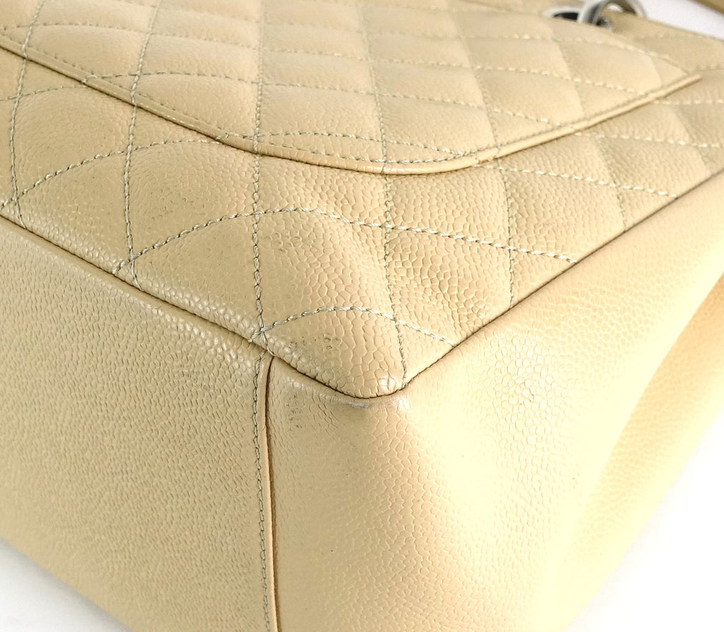 Grand Shopping Tote Quilted Caviar Leather Bag