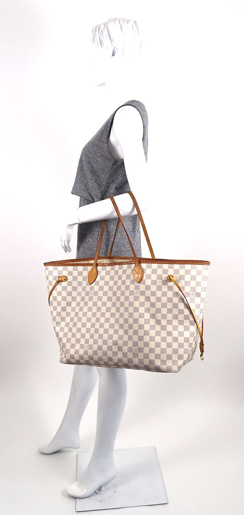 Neverfull GM Damier Azur Canvas Tote Bag with Pouch