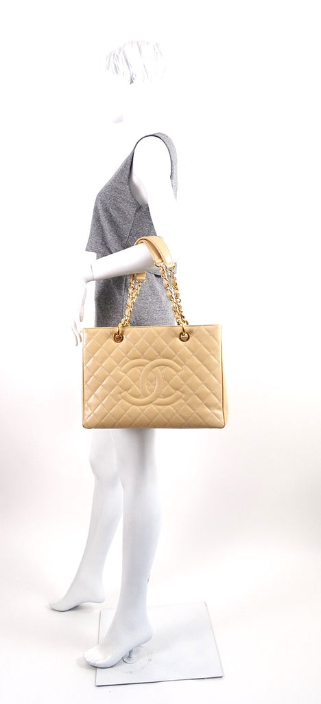 Grand Shopping Tote GST Caviar Leather Bag