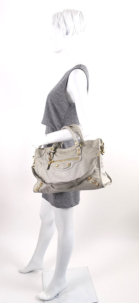 Giant Agneau Leather City Bag