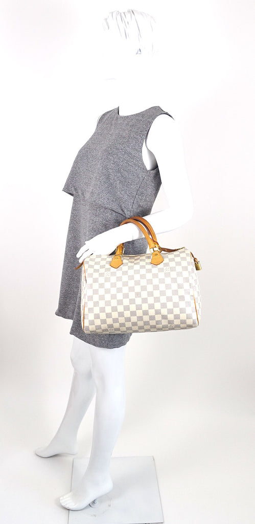 Speedy 30 Damier Azur Canvas City Handbag