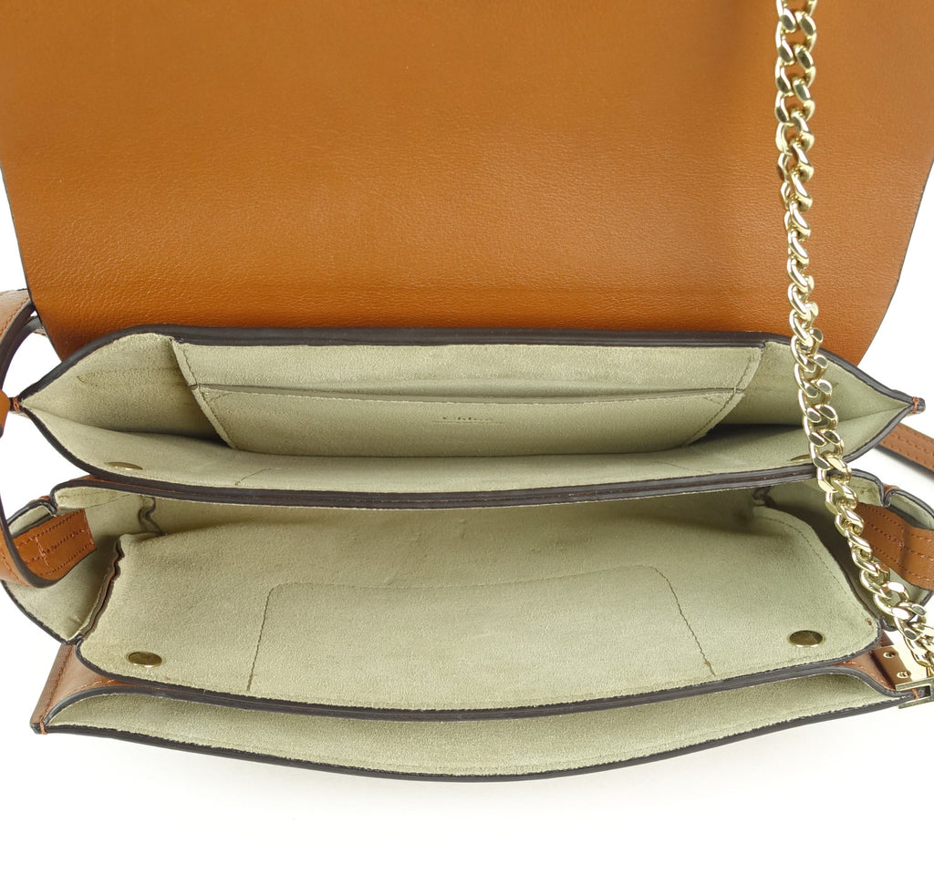 Faye Leather and Suede Small Shoulder Bag