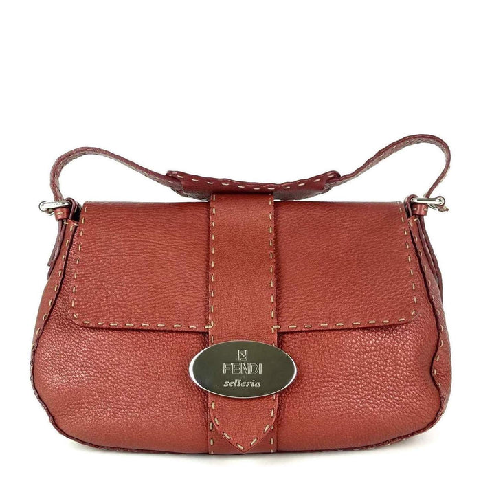 Selleria Pebbled Leather Flap Bag