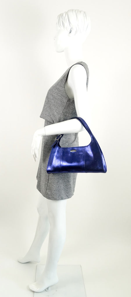 Metallic Embossed Shoulder Bag
