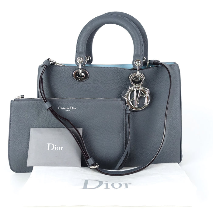 Diorissimo Calfskin Leather Medium Bag with Pouch