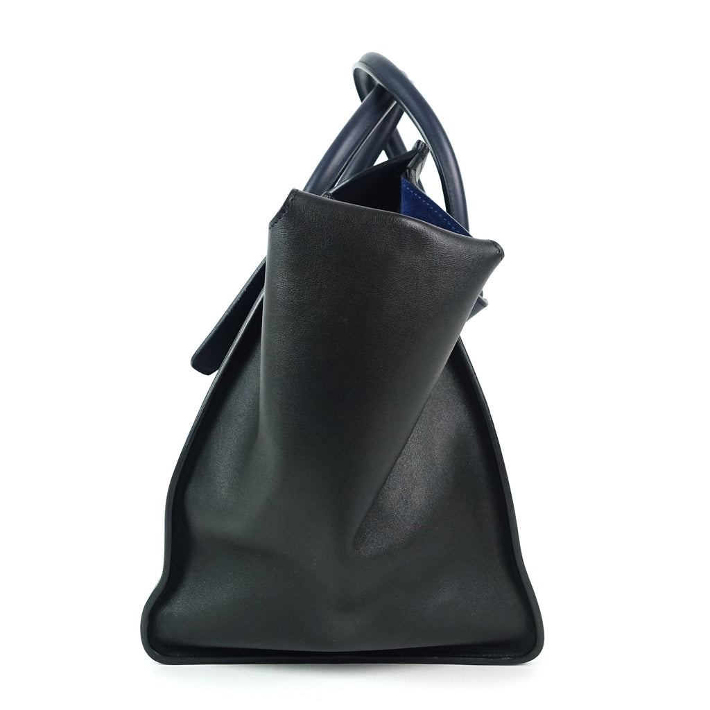 Tie Knot Two-Tone Smooth Calf Leather Bag