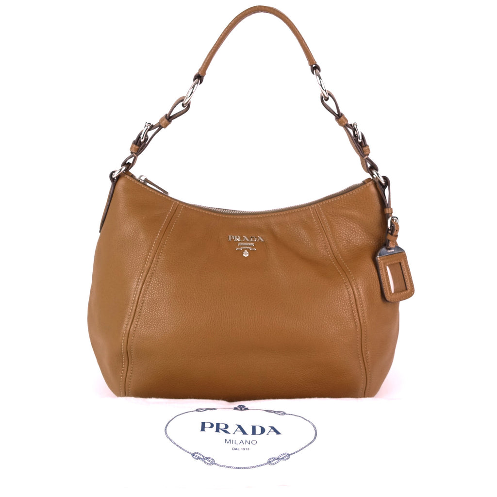 Phenix Vitello Daino Leather Hobo Bag
