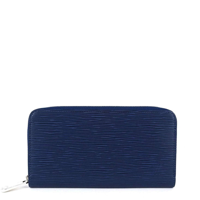 Zippy Navy Blue Epi Leather Wallet