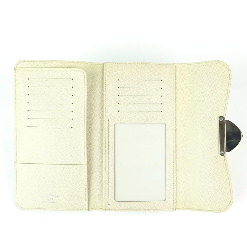 Eugenie Cream Epi Leather Wallet
