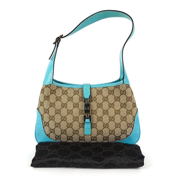 Jackie Monogram Canvas Shoulder Bag